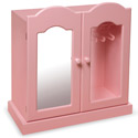 Pink Mirrored Doll Armoire , Baby Doll House | Accessories | Doll Furnitutre Sets