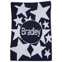 Personalized Shooting Stars & Name Stroller Blanket