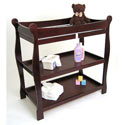 Sleigh Style Changing Table, Baby Changing Table | Changing Tables With Drawers | ABaby.com
