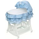 Waffle Ruffled Bassinet with Toybox Base, Baby Boy Bassinet Bedding | Baby Boy Bedding Sets | ABaby.com