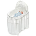 White Batiste Bassinet , Baby Bassinet Bedding sets, Bassinet Skirts, Bassinet Liners, and Hoods