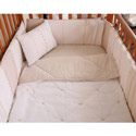 Cream Stitches Crib Bedding, Gender Neutral Baby Bedding | Neutral Crib Bedding | ABaby.com