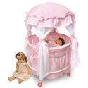 Royal Pavilion Round Doll Crib, Baby Doll House | Accessories | Doll Furnitutre Sets