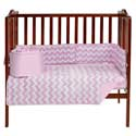 Chevron Porta Crib Bedding Set, Portable Mini Crib Bedding Sets For Your Baby