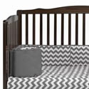 Chevron Round Crib Bumper, Baby Bumper for Cribs, Cradles & Bassinets - aBaby.com