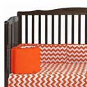 Chevron Crib Bumper, Custom Organic Crib Bumper Pads For Your Baby