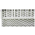 Chevron Porta Crib Dust Ruffle