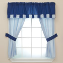 Patchwork Perfect Window Valance and Panel Set