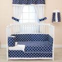 Diamond Chic Crib Bedding Set, Boys Crib Bedding Sets - Crib Sets for Boys with Sheets & Bumpers