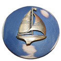 Silver Sailboat Drawer Knob