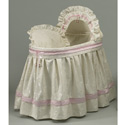 Baby King and Queen Bassinet Set, Baby Bassinet Bedding sets, Bassinet Skirts, Bassinet Liners, and Hoods