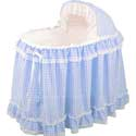 Gingham Bassinet Set, Baby Boy Bassinet Bedding | Baby Boy Bedding Sets | ABaby.com