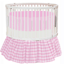 Gingham Round Crib Bedding, Bedding For Round Cribs | ABaby.com