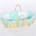 Gingham Eyelet Moses Basket, Neutral Baby Baskets | Newborn Moses Basket | ABaby.com