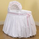 Pretty Ribbon Bassinet, Baby Girl Bassinet Bedding | Baby Girl Bedding Sets | ABaby.com