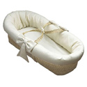 Waffle Pique Baby Moses Basket, Moses Basket for Newborn | Wicker Basket Bassinet | aBaby.com