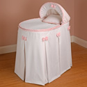 Perfectly Pretty Bassinet, Baby Bassinet Bedding sets, Bassinet Skirts, Bassinet Liners, and Hoods