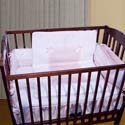 Sweet Ribbon Porta Crib Bedding, Portable Mini Crib Bedding Sets For Your Baby