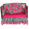 Minky Zebra Crib Bedding, Baby Girl Crib Bedding | Girl Crib Bedding Sets | ABaby.com
