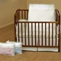 Classic Bows Porta Crib Bedding, Portable Mini Crib Bedding Sets For Your Baby