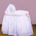 Sheer Garden Bassinet, Bassinet Covers | Baby Bassinet Bedding Sets | ABaby.com