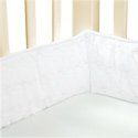 Eyelet Standard Crib Bumper, Custom Organic Crib Bumper Pads For Your Baby