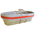 Suede Susie Moses Basket, Moses Basket for Newborn | Wicker Basket Bassinet | aBaby.com