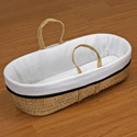 Neat Trim Moses Basket, Moses Baskets With Stands | Baby Moses Baskets | ABaby.com
