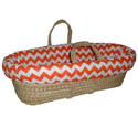 Chevron Moses Basket, Moses Basket for Newborn | Wicker Basket Bassinet | aBaby.com