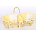 Gingham Eyelet Moses Basket, Baby Baskets For Boys | Boys Moses Baskets | ABaby.com