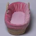 Swirls of Suede Moses Basket, Baby Baskets For Girls | Girls Moses Baskets | ABaby.com