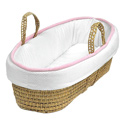 Perfectly Pretty Moses Basket, Baby Baskets For Girls | Girls Moses Baskets | ABaby.com
