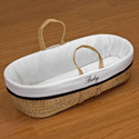 Personalized Moses Basket, Baby Baskets For Girls | Girls Moses Baskets | ABaby.com