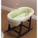 Popcorn Moses Basket, Moses Baskets With Stands | Baby Moses Baskets | ABaby.com