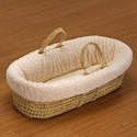 Cuddles & Kisses Moses Basket, Neutral Baby Baskets | Newborn Moses Basket | ABaby.com