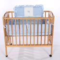 Animal Appliqué Porta Crib Bedding, Portable Mini Crib Bedding Sets For Your Baby
