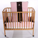 Choco Rocking Horse Porta Crib Bedding, Portable Mini Crib Bedding Sets For Your Baby