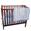Double Hotel Porta Crib Bedding , Portable Mini Crib Bedding Sets For Your Baby