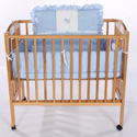 Elephant Applique Porta Crib Bedding, Portable Mini Crib Bedding Sets For Your Baby