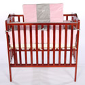 Grey Rocking Horse Porta Crib Bedding, Portable Mini Crib Bedding Sets For Your Baby