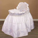 Ruffled Tiered Bassinet, Baby Girl Bassinet Bedding | Baby Girl Bedding Sets | ABaby.com