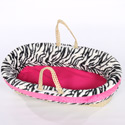 Minky Zebra Moses Basket , Baby Baskets For Girls | Girls Moses Baskets | ABaby.com