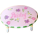 Personalized Pretty Posies Stool, Tropical Sea Themed Nursery | Tropical Sea Bedding | ABaby.com