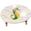 Seahorse Stool, Tropical Sea Themed Nursery | Tropical Sea Bedding | ABaby.com