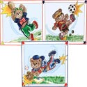 Sports Bears Wall Art, Wall Art Collection | Wall Art Sets | ABaby.com