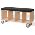 Bench Box On Casters, Toy Organizers | Stackable Storage Bins | Toy Chests | ABaby.com