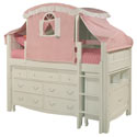 Emma Low Loft Bed with Tent, Childrens Twin Beds | Full Beds | ABaby.com