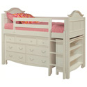 Emma Twin Low Loft Storage Bed, Childrens Twin Beds | Full Beds | ABaby.com