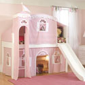 Princess Hannah Low Loft Bed, Princess Themed Nursery | Girls Princess Bedding | ABaby.com