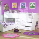 Double Fun Captains Bed, Childrens Loft Beds | Girls Loft Bed With Desk | ABaby.com